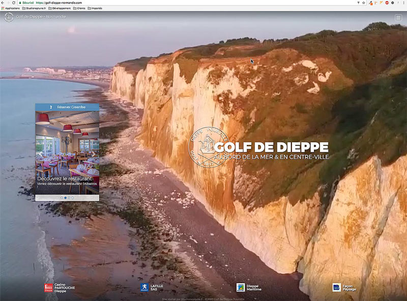 Site internet du golf de Dieppe Normandie